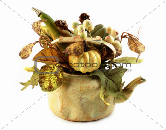 decorative pot with plants