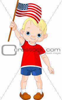 Fourth of July boy