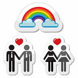 Gay marriage , gay couples icons