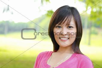 Asian woman outdoor