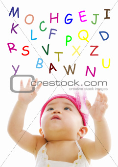 Catching alphabet words