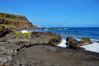 Bollullo Beach in Tenerife, Canary Islands, Spain