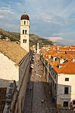 View on Stradun and Dubrovnik from the City Walls, Croatia