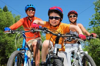 Youthful cyclist