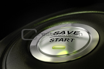 saving money, save start button
