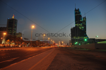 Night view of Bahrain Manama