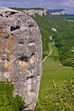 Crimean landscape cave town Eski-Kerman