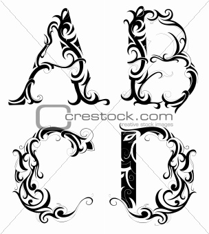 4736137: Floral abstraction with letters from Crestock Stock Photos