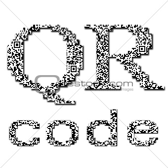 QR code textured text