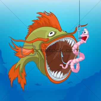Cartoons_Ocean_Fish worm