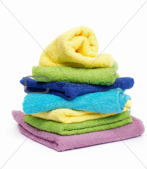 Multi-colored towels