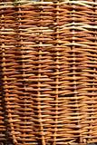Detail of wicker basket with willow twigs
