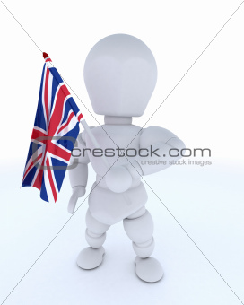 Man with Union Jack Flag