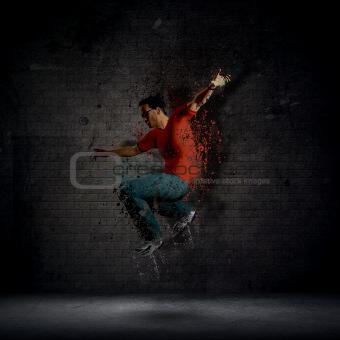 Grunge male dancer