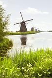 Row of windmills in Kinderdijk, the Netherlands
