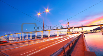 highway under the bridge in macao