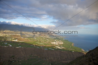 aerial view of coastline at La Palma