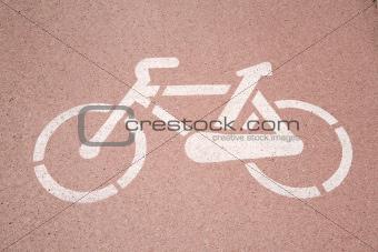 clean bikers lane paint sign