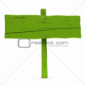 green sign over white