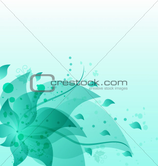 Abstract vintage floral background with copy space