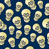Seamless Cartoon Skull Pattern