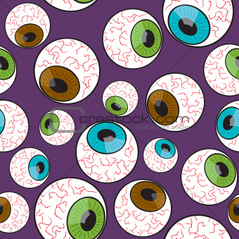 Seamless Creepy Eyeball Pattern