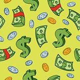 Seamless Cartoon Money Pattern
