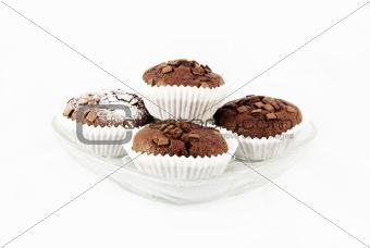 Fresh baked chocolate muffins