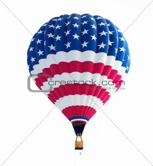 hot air balloon usa flag