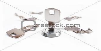 broken key the keyhole