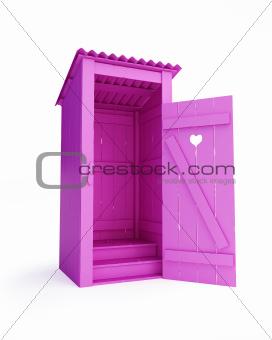 outdoor pink biotoilet (Rural Glamour)