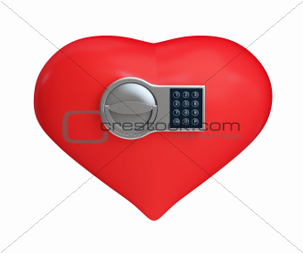 heart on the electronic lock