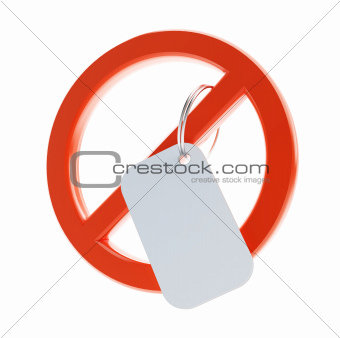 no blank sign
