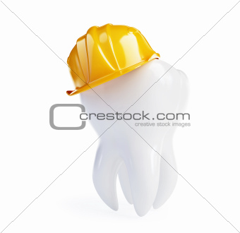 tooth in a working helmet