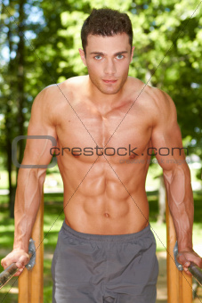 Close up of muscular man