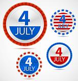 Set of 4th July labels