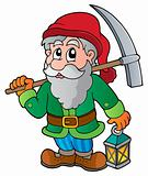 Cartoon dwarf miner