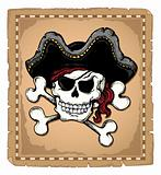 Vintage pirate skull theme 2