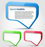 Colorful 3d bubble speech