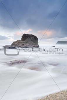 Cornwall Twilight Seascape, Polzeath, UK.