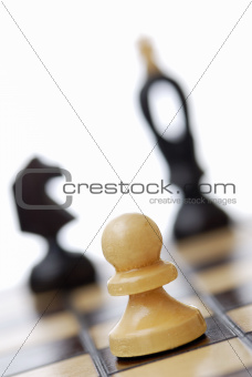 Tilted View of Chessboard.