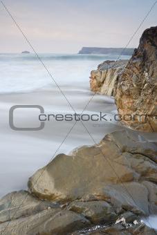 Motion Blurred Waves, Cornwall, UK.