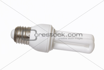 Energy Saving Lightbulb on White Background.