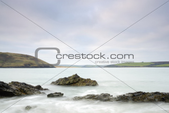 Cornwall Seascape of Damer Bay