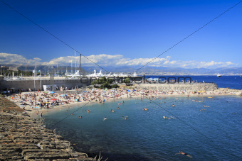 antibes city beach french riveira
