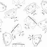 Doodle handmade kids seamless pattern