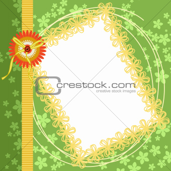 Scrapbook Page Spring Green Floral Border