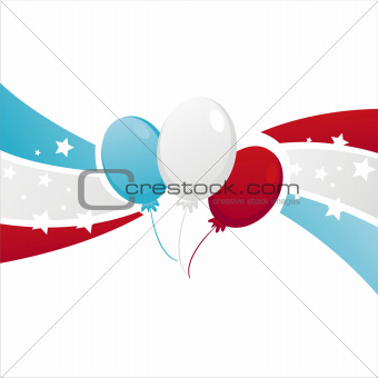 background with american  balloons