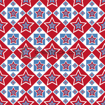 american colored stars pattern