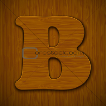 Wooden alphabet.